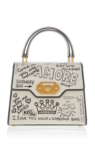 Medium dolce gabbana white amore top handle bag