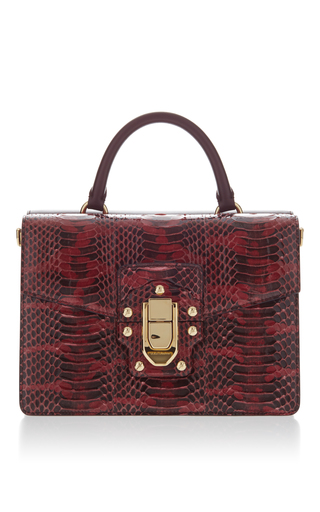 Medium dolce gabbana red two sided top handle bag