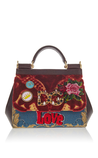Medium dolce gabbana red tapestry mini bag cross body