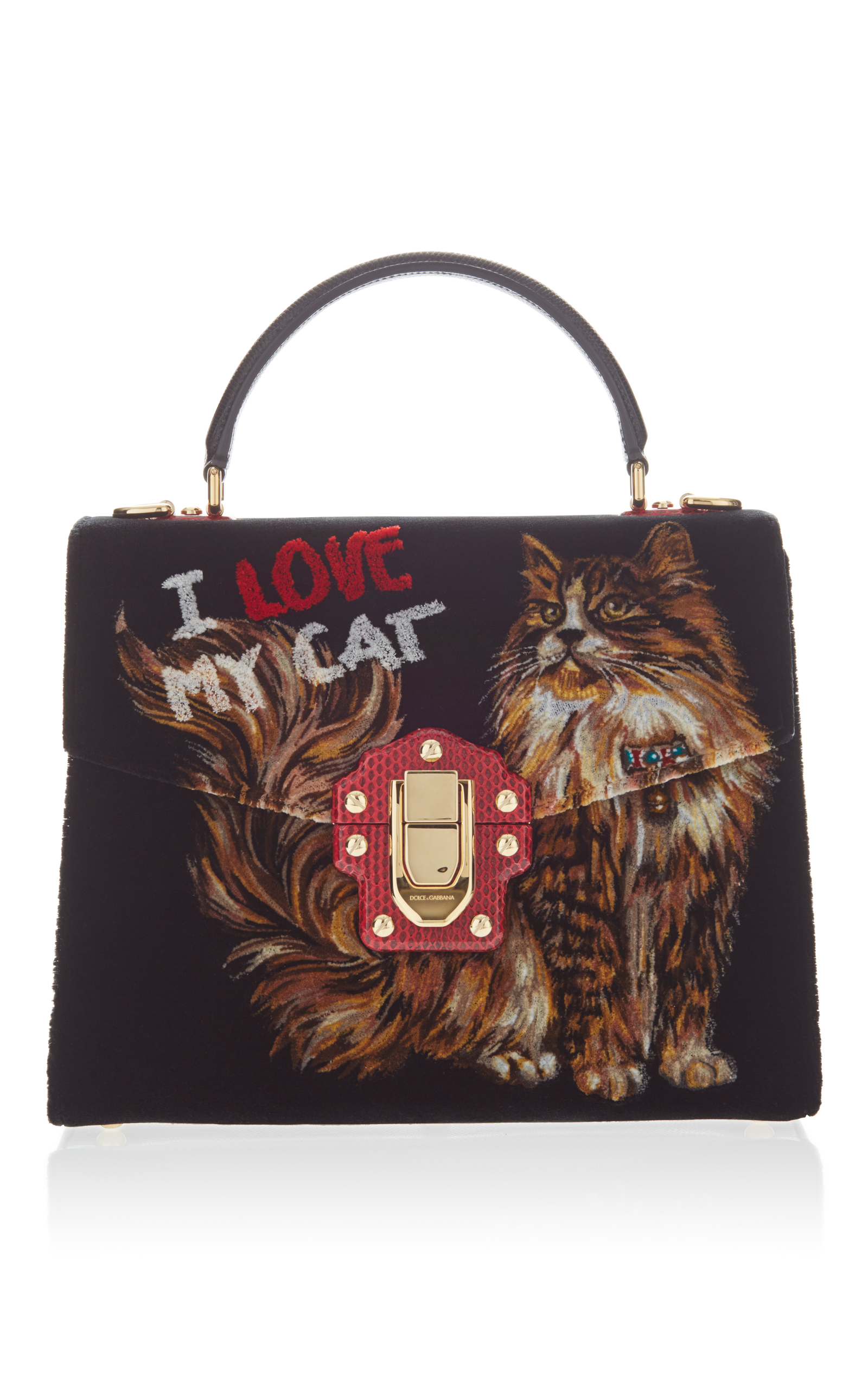 Top Handle Handbag On Sale, Red, Leather, 2017, one size Dolce & Gabbana