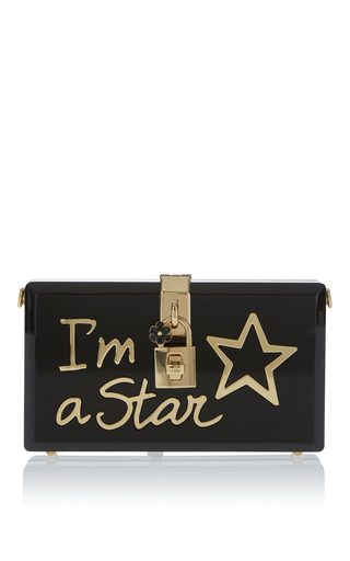 Medium dolce gabbana black i am a star clutch