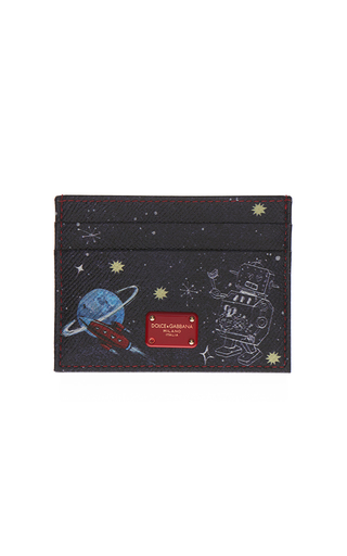 Medium dolce gabbana black printed card holder