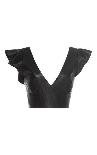Medium isabel marant black glenside cropped leather top