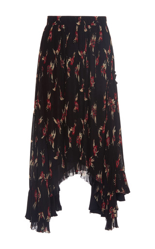 Medium isabel marant print wilny pleated skirt