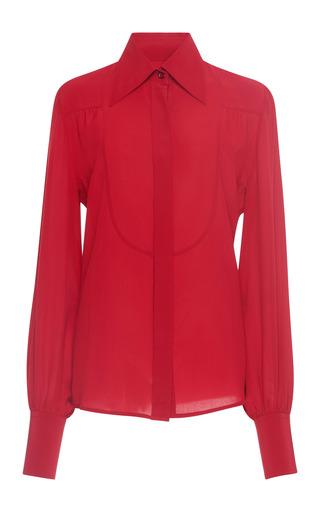 Medium isabel marant red salina silk blouse