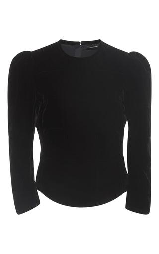 Medium isabel marant black tuline velvet top