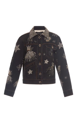 Medium isabel marant grey mateo embellished denim jacket