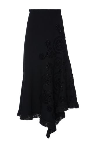 Medium andrew gn black embroidered asymmetrical midi skirt 2