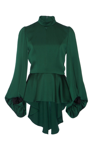 Medium andrew gn green satin peplum top