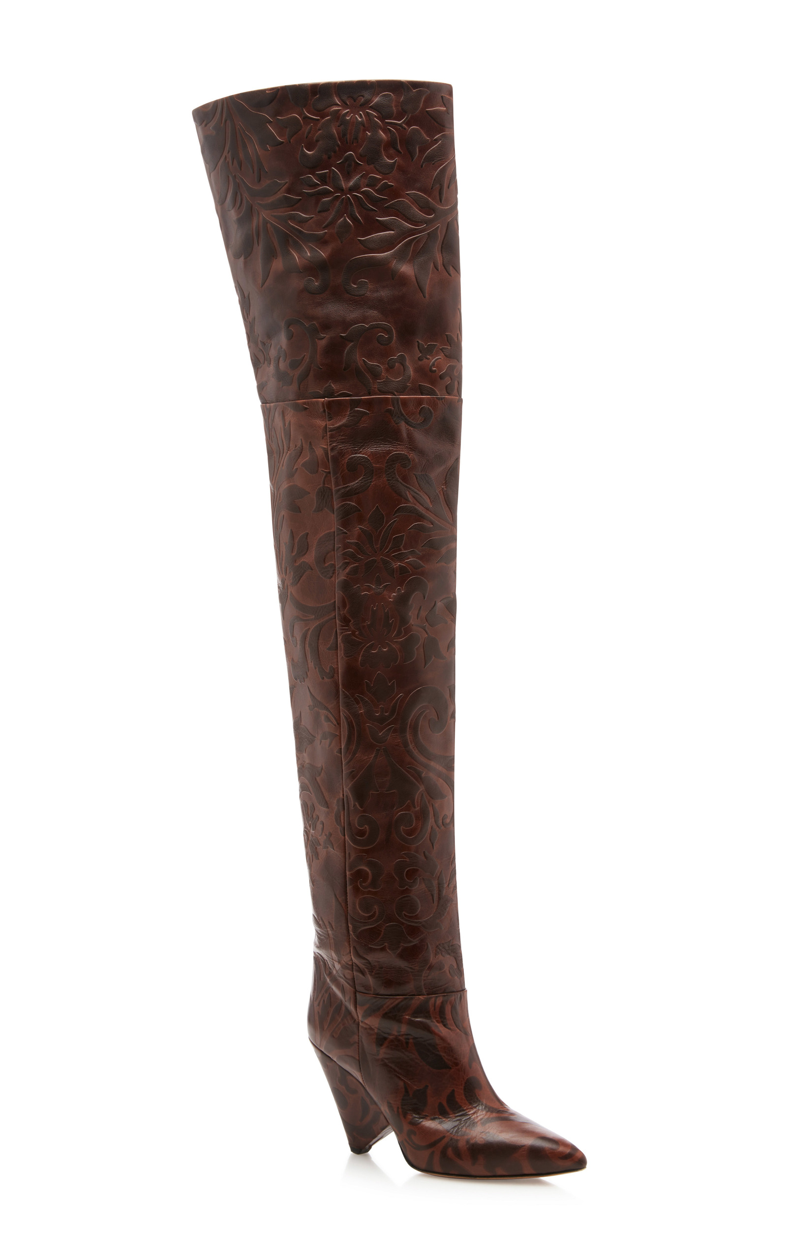 Lostynn embossed leather boots Isabel Marant zZwBddhF4