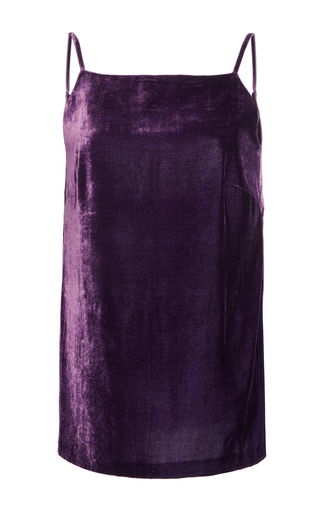 Medium elie saab purple velvet top