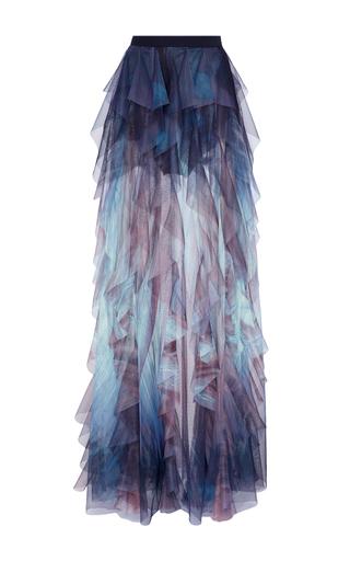 Medium elie saab print tulle ruffled maxi skirt