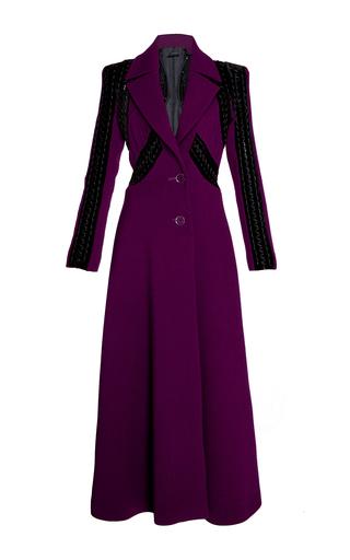 Medium elie saab purple flared long coat