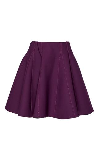 Medium elie saab purple high waisted mini skirt