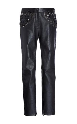 Medium elie saab black skinny leather pants