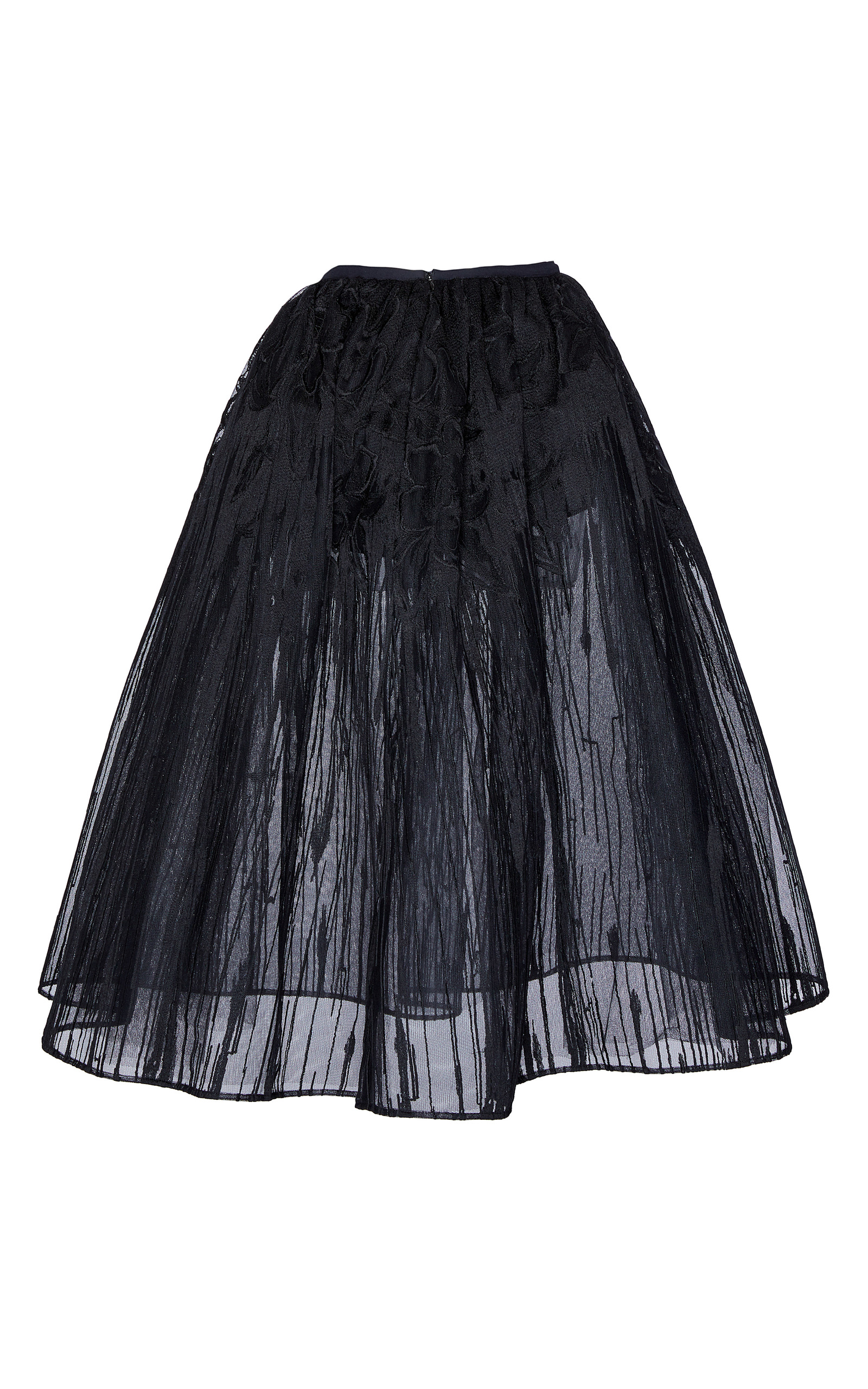 embroidered a line tulle skirt by elie saab moda operandi