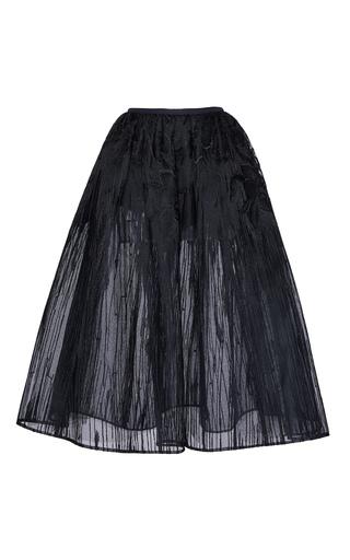 Medium elie saab black embroidered a line tulle skirt