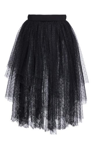 Medium elie saab black tiered tulle skirt