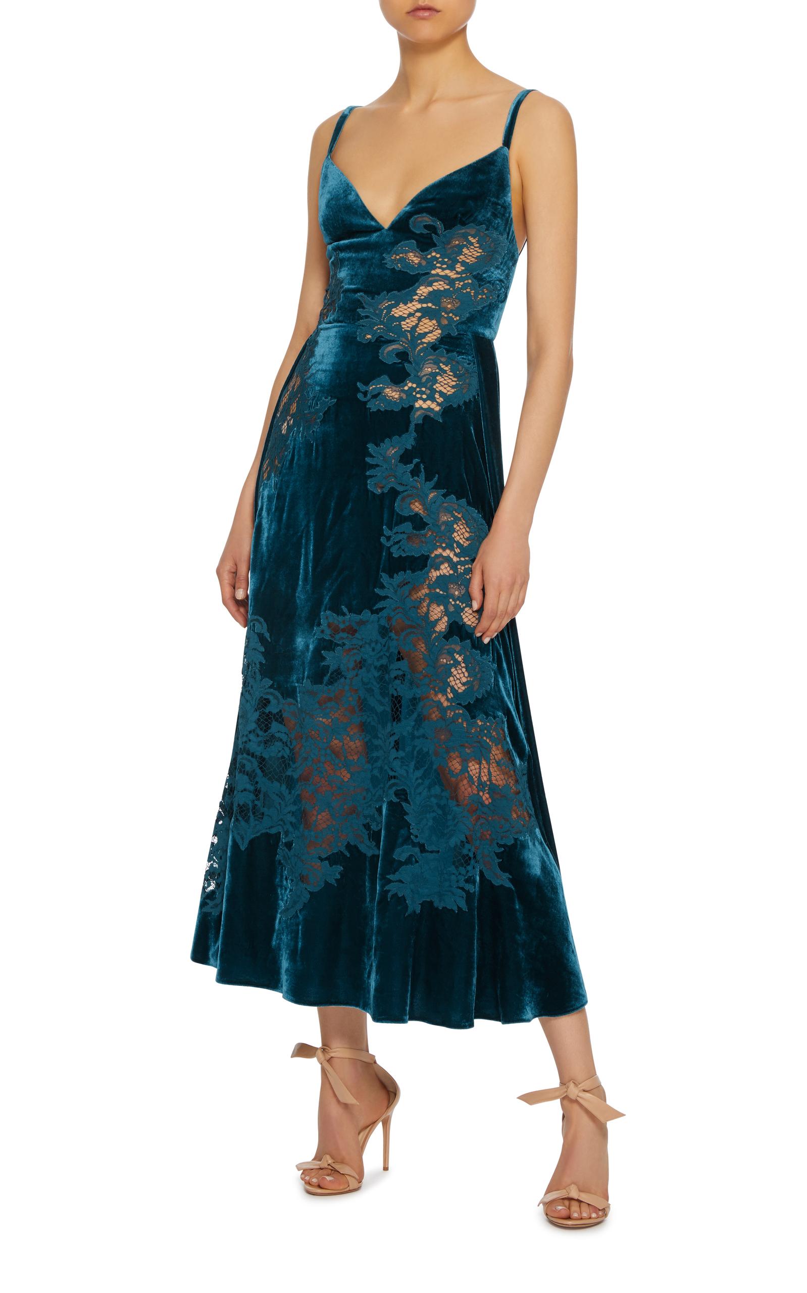 Blue Velvet Dress Shoes