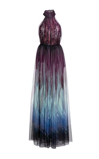 Medium elie saab purple tulle halter gown