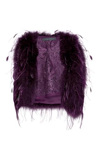 Medium elie saab purple feather vest