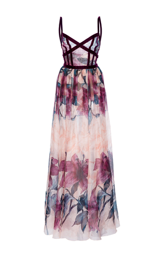 Medium elie saab print printed organza gown