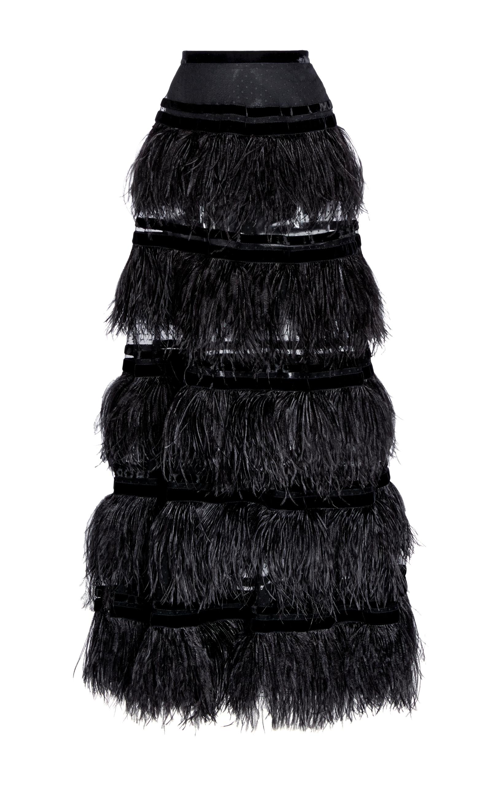 72392cfc4 Feather Tiered Maxi Skirt by Elie Saab | Moda Operandi