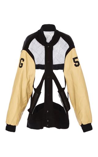 Medium maison margiela black harness cutout varsity jacket