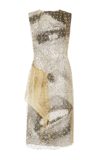 Medium maison margiela multi flocked tulle sheath dress