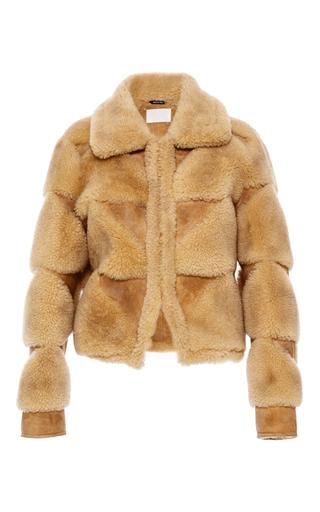 Medium maison margiela brown lamb shearling jacket