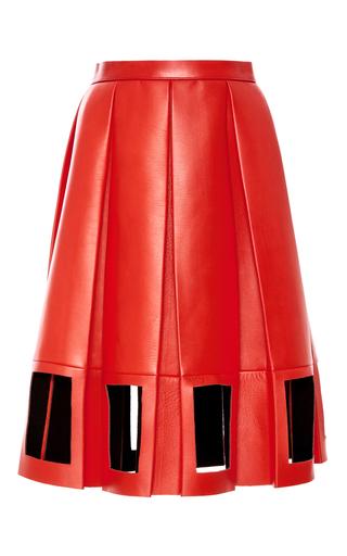 Medium maison margiela red decortique leather a line skirt