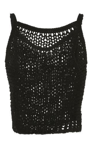 Medium giambattista valli black wool tank top