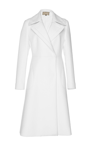 Medium giambattista valli white notch collar coat