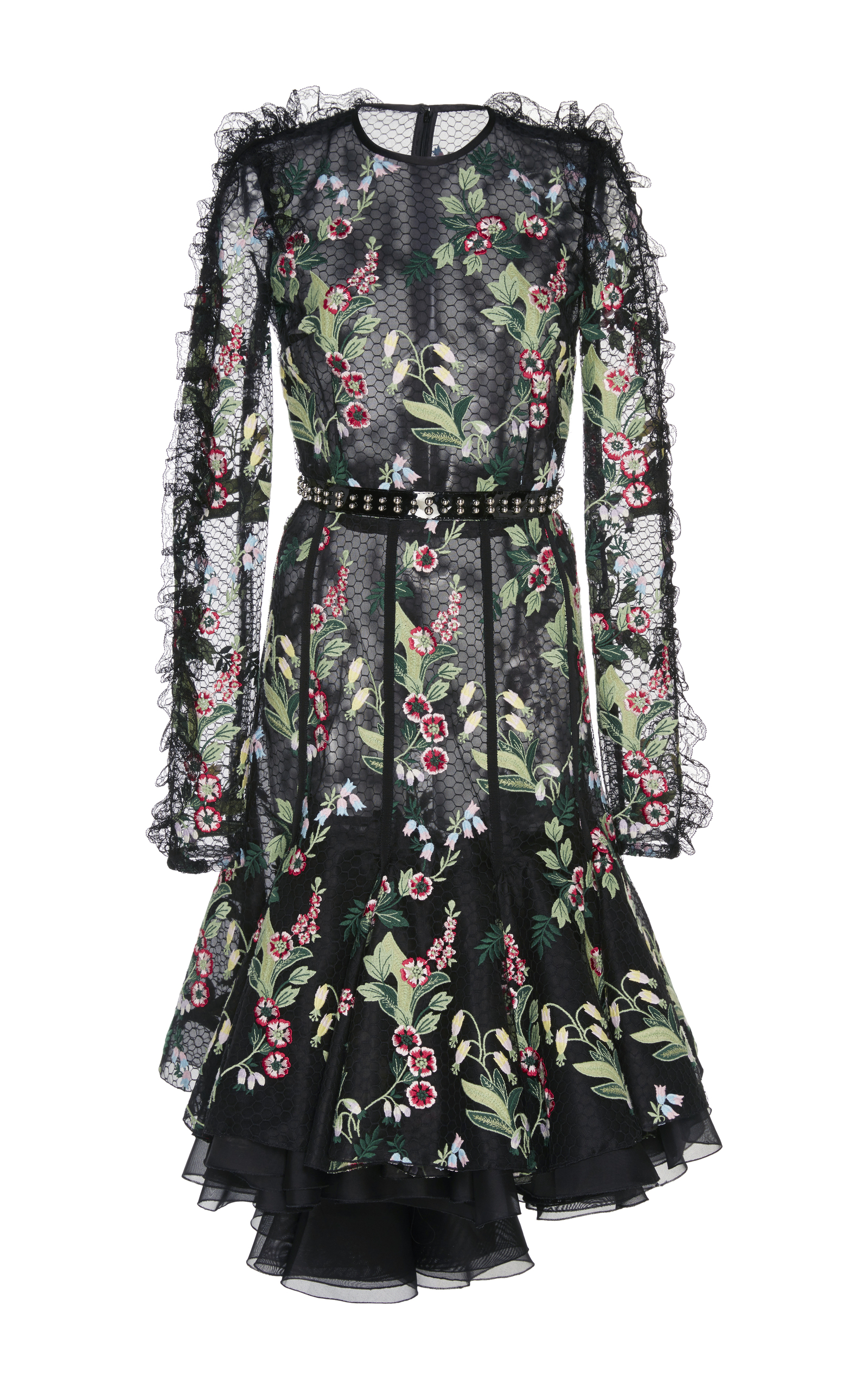 Floral Embroidered Lace Dress By Giambattista Valli Moda