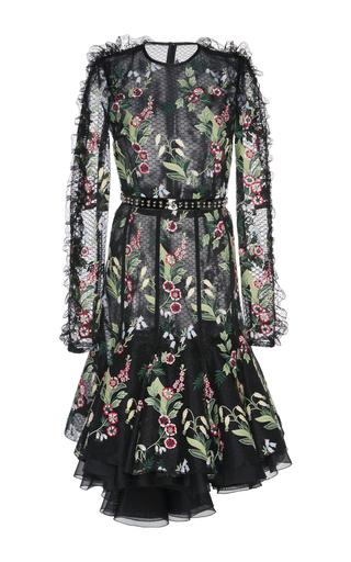 Medium giambattista valli black floral embroidered lace dress