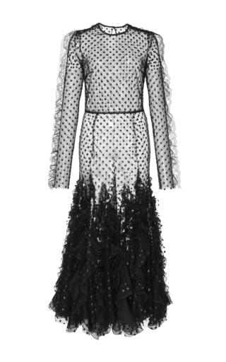 Medium giambattista valli black long sleeve polka dot dress