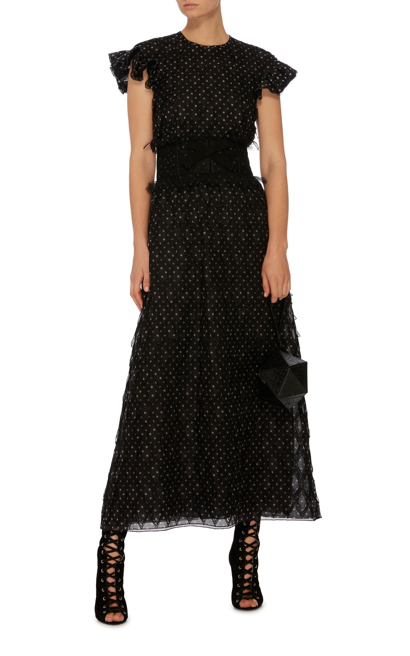246fce8cae1 Giambattista ValliFlutter Sleeve Polka Dot Dress. CLOSE. Loading
