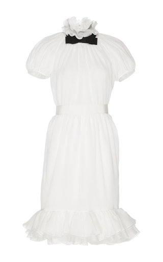 Medium giambattista valli white short sleeve cocktail dress