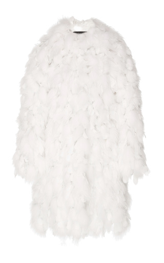 Medium giambattista valli white fox fur coat