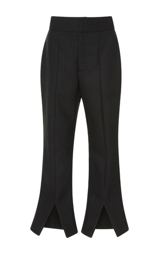 Medium jacquemus black cropped split pant