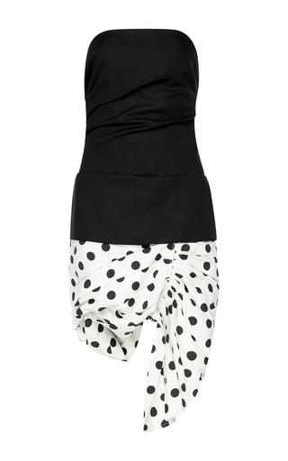 Medium jacquemus black white strapless asymmetrical dress