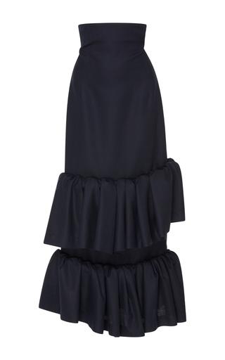 Medium jacquemus navy tiered ruffle long skirt