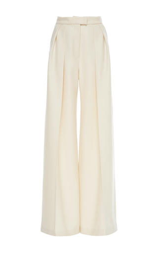 Medium martin grant neutral pleated tailored pants