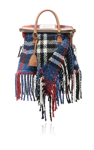 Medium maison margiela plaid 5ac small blanket bag