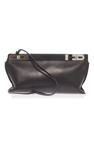 Medium loewe black leather missy bag