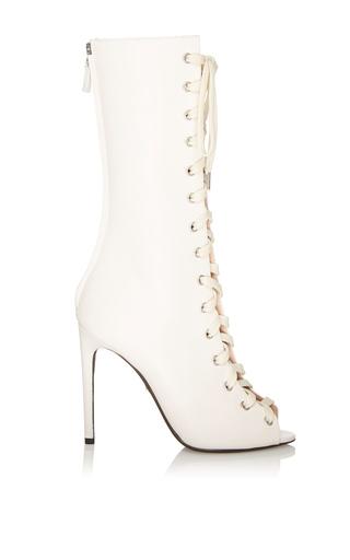 Medium giambattista valli white lace up boot