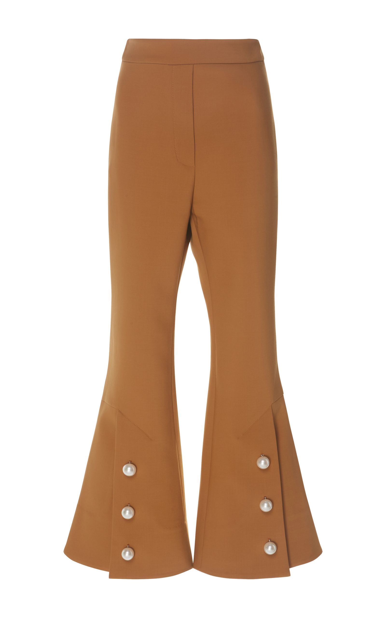 Fourth Element Pearl-Embellished Cropped Flare Trousers Ellery High Quality Huge Surprise Cheap Online Cheap Sale Get To Buy Affordable xnFefv5By