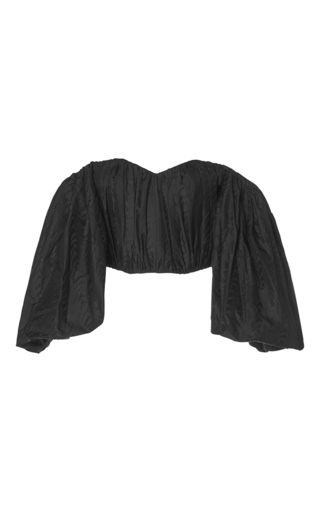 Medium ellery black lady chatterly bubble sleeve top