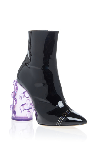 Medium ellery black bubble heel bootie