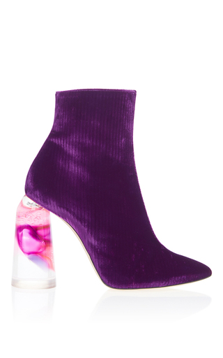 Medium ellery purple corduroy bubble heel bootie